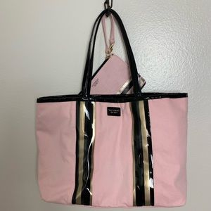 Victoria's Secret tote with make up bag 12x19x6
